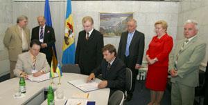 Pasirašomas Kijevo srities ir Vilniaus apskrities bendradarbiavimo memorandumas
