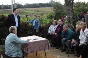 Susitikimas su Strelčiukų gyventojais