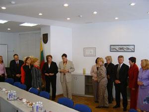 Susitikimas su ministre