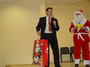 Sveikinant Vilniaus socialinius darbuotojus su Kalėdomis