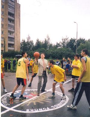 Krepšinio aikštelės atidarymas